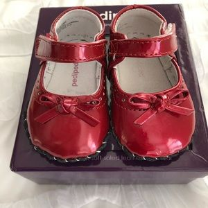 Pediped Red Isobella Shoes 0-6 Months